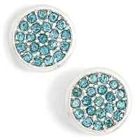 Women's Lonna & Lilly Pave Disc Stud Earrings