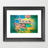 ROAM Framed Art Print by Ann B. | Society6