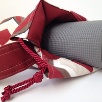 Retro Diamond Yoga Mat Bag