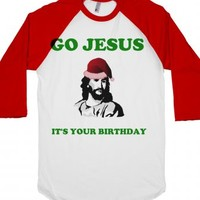 Go Jesus It's Your Birthday-Unisex White/Red T-Shirt