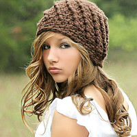 Brown Beanie Hat Chunky Hat for Women Teen Girl Fall Fashion Winter Fashion