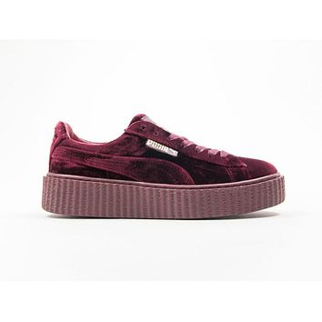 PUMA X FENTY CREEPER VELVET ROYAL PURPLE