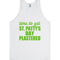 St. Patty's Day Plastered-Unisex White Tank
