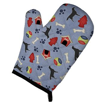 Black Labrador Retriever Dog House Collection Oven Mitt BB3908OVMT