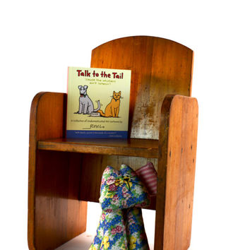 Wooden Childs Chair, Handmade Wood Chair, Kids Reading Chair, Solid Wood Small Chair, Midcentury Baby Chair, Childrens Chair, Vintassentials
