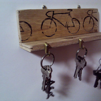 Key or Jewelry Holder Wall Mounted with Shelf and bike by Ayliss