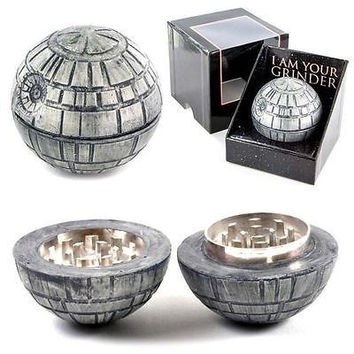 Star Wars Death Star Grinder Zinc Alloy Cigarette Accessories Herb Spice Crusher Smoke Grinder 50mm