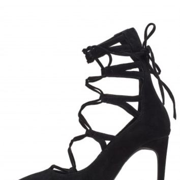 Jeffrey Campbell Shoes BRIELLE-HX Heels in Black Suede