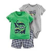 carter's® 3-Piece Dino Little Short Set