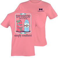 Simply Southern Southern Buoys Top - Peach