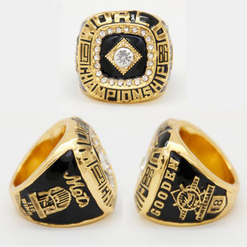 2015 est Wedding Sport Jewelry 1986 NY Mets World Series Championship Ring For Men Ring, Gold