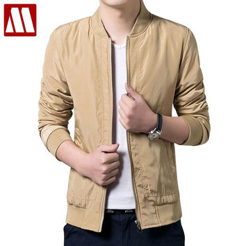 Men Jackets And Coats Home Clothing Autumn Men Casual Jacket Slim High Quality Solid Fashion Coat Male