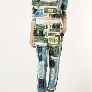 Dollar Word Print Joggers - Pants - Clothing - Topshop USA