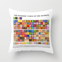 The Periodic Table of the Muppets Throw Pillow by Mike Boon
