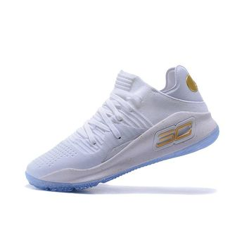 Best Deal Under Armour UA Men's SC30 Stephen Curry 4 Low White Sport Sneaker