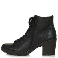 MAMBO FUR LINED LACE UP BOOTS
