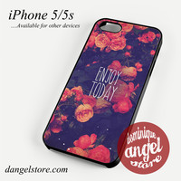 enjoy to day floral Phone case for iPhone 4/4s/5/5c/5s/6/6 plus