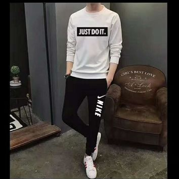 One-nice™ NIKE JUST DO IT long sleeve sports suit two piece H-AHXF