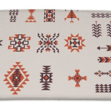 Bath Mat, Native American Navajo Aztec Pattern Set
