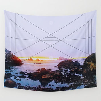 Ocean Geometric  Wall Tapestry Yoga Meditation Mandala Wall Hanging