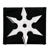 "4"" Throwing Star with Nylon Pouch"