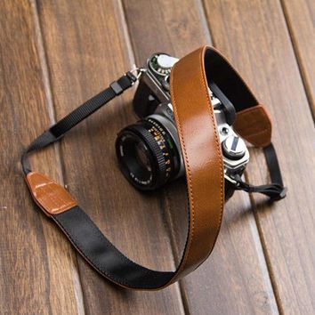 Day-First™ Cool Leather DSLR Camera Strap