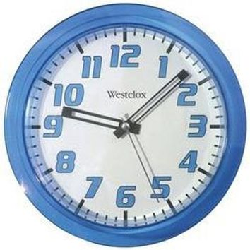 "Westclox 7.75"" Translucent Wall Clock (blue) (pack of 1 Ea)"