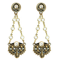 Michal Golan Art Deco Collection 2-Part Post Chain Drop Earrings