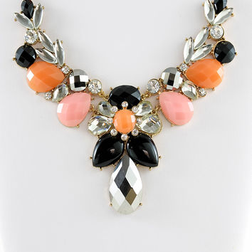 Jewel Bib Necklace & Earrings Set