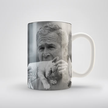 George W Bush Eating A Kitten Coffee Mug