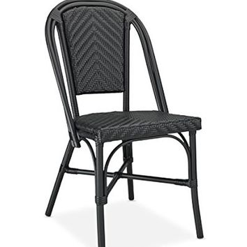 Table in a Bag CBCBB All-Weather Wicker French Caf Bistro Chair with Aluminum...