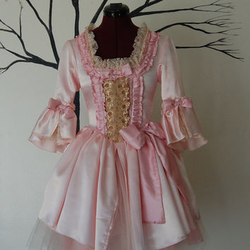 Pink cupcake mini Marie Antoinette Victorian inspired costume dress Halloween with tutu