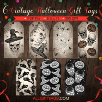 Vintage Halloween Gift Tags