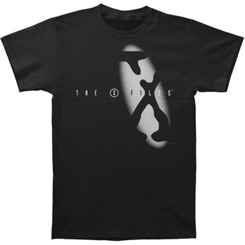 X Files Men's  Spotlight Logo T-shirt Black Rockabilia