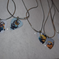 Minion Guitar Pic Necklace