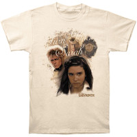 Labyrinth Men's  Turn Back Sarah T-shirt Cream Rockabilia