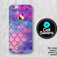 Mermaid Scales Clear iPhone 6s Case iPhone 6 Case iPhone 6 Plus iPhone 6s Plus iPhone 5c iPhone 5 SE Purple Blue Pink Watercolor Scales Cute