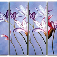 Focus on Crocus Canvas Wall Art