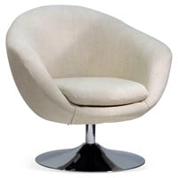 Daniels Disc-Base Chair, Cream