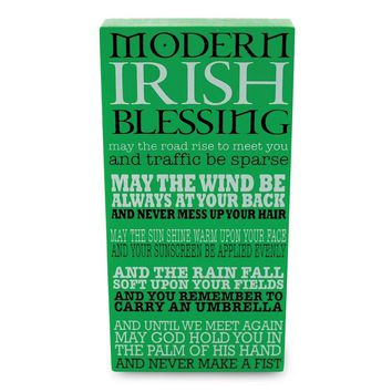 Our Name Is Mud Plaque Irish Blessing