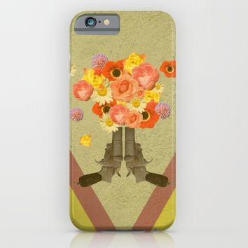 In my world, flowers come out of guns iPhone & iPod Case by AmDuf