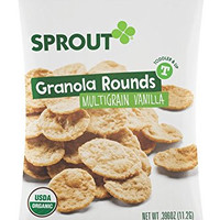 Sprout Organic Multigrain Granola Rounds Toddler Snack, Vanilla, 2.5 Ounce