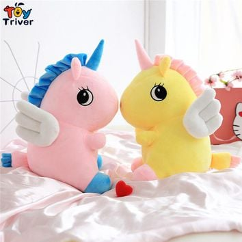 Plush Unicorn Toy Stuffed Animal Horse Baby Kids Children Birthday Gift Shop Home Decor Ornament Drop Shipping Triver