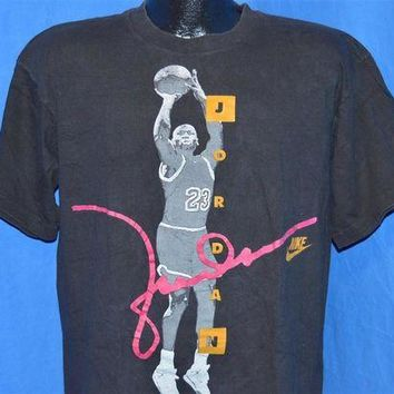 DCCKHD9 90s Nike Michael Jordan USA Jump Shot Chicago Bulls t-shirt Large