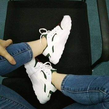 Nike Gucci Drops the Air Huarache Ultra Sports shoes White&green G