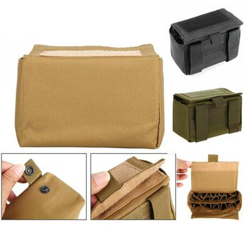 CQC Military Tactical 15 Round Shell Cartridge Pouch MOLLE Bullet Reload Ammo Holder Box Magazine Pouch Hunting Waist Bag
