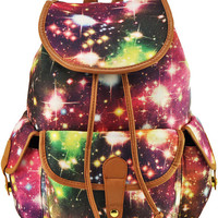 Red Stars Canvas Backpacks