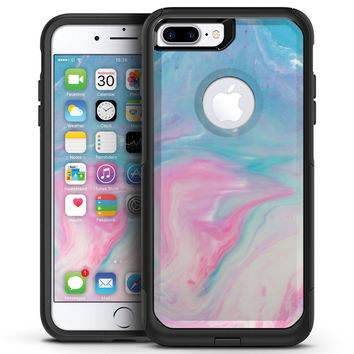 Marbleized Pink and Blue Paradise V482 - iPhone 7 or 7 Plus Commuter Case Skin Kit