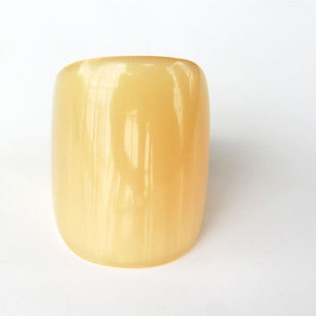 Big thumb ring: translucent, horn, organic, fashion, unique, simple, men, women