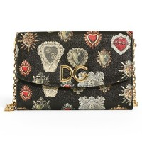 Dolce&Gabbana Heart Calfskin Leather Wallet on a Chain | Nordstrom